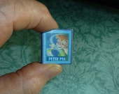 PETER PAN Dollhouse Miniature Book!  Complete complete story in 16 Pages!  Illustrations! Vintage replica cover!
