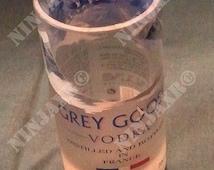 Glasses Bottle upcycle Grey Goose Vodka Tumbler