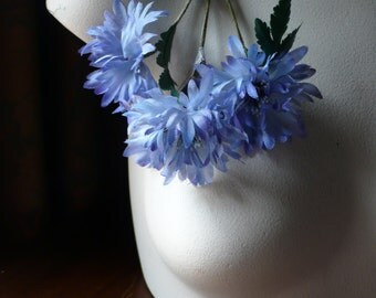 Vintage German Millinery Cornflowers in Blue for Bridal, Boutonierres, Sashes, Bouquets, Millinery