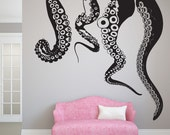 CLOSE OUT-Jumbo Tentacles Vinyl Wall Decal in Black Matte