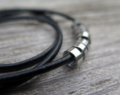 black necklace. mens accessories. unisex jewelry.
