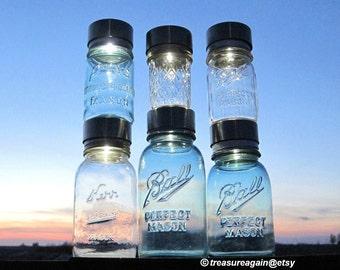 6 Canning Jar Solar Lids Mason Jar Solar Lights, Outdoor DIY Wedding Lights, Party Event Decor, Handmade Lid Only, No Jars