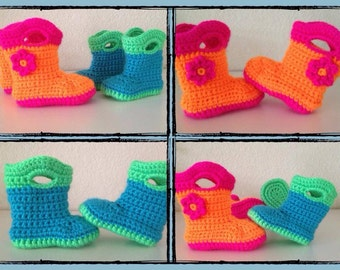 Baby galosh booties crochet. Made to order