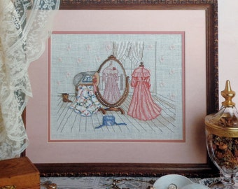 Cross Stitch Pattern Paula Vaughan Vaughn REFLECTIONS OF PAST By Leisure Arts