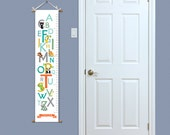 Growth Chart - Alphabet Growth Chart - Kids Growth Chart - Baby Gift Idea - Alphabet Art - Animal Growth Chart - Personalized Growth Chart