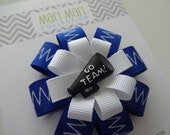 Cheerleading Bow, Cheer Bow, Cheerleading Hair Clip, Go Team Hair Clip, Cheerleading Hair Accessory, Megaphone Hair Bow, Cheer Hair Clip