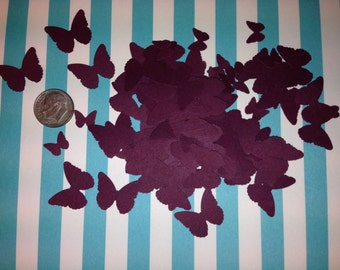 Burgundy/Merlot Butterfly Confetti, Decoration, Cutout, Die Cuts