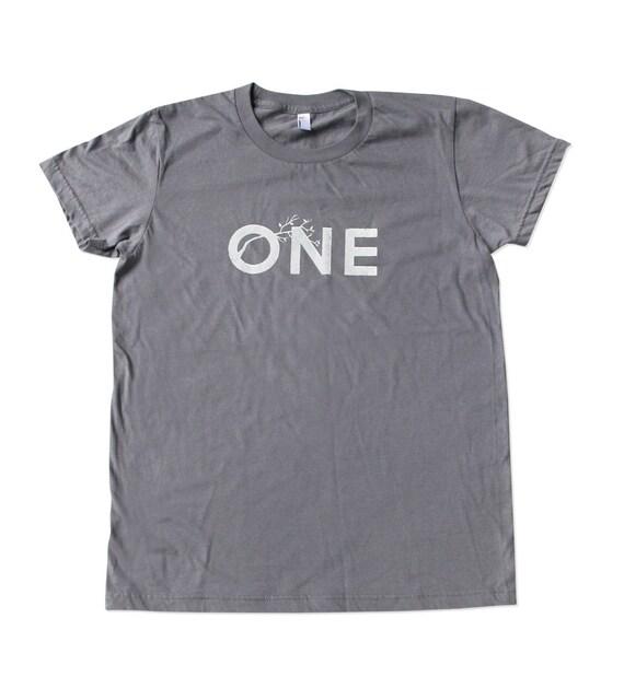 Womens One Tree Tshirt - Gray Shirt - American Made - In Small, Medium, Large, XL