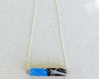 Recycled Skateboard Bar Necklace
