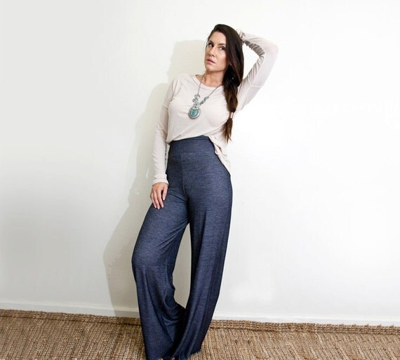 Wide Leg Palazzo Pants High Waist Jeans Petite Amp Tall Length