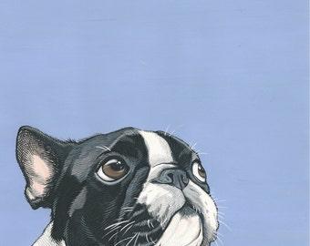 Custom Pet Portrait- 5x7 inch Painted Portrait - Pet Portrait painted from your photo - Custom Portrait - Custom Dog Portrait - Dog Art
