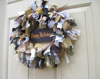 Halloween Wreath, Happy Halloween Wreath, Spooky Halloween Home Decor, Halloween Party Decor, Creepy Halloween Decorations, Autumn Wreaths
