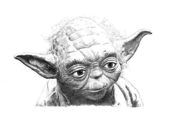 Add it to your favorites to revisit it later Yoda Face Drawing