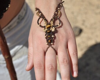 Tribal Barefoot Sandal Jewelry Ring Bracelet Macrame Macrame Jewelry