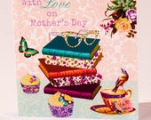 Mother's Day Bookish Greeting Card