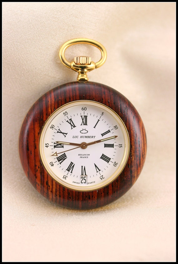 mens pocket watches mens wood cocobolo