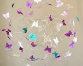 Hanging Baby Mobiles, Baby Girl Nursery, Butterfly Mobiles, Butterflies Decor, Purple Nursery Decor
