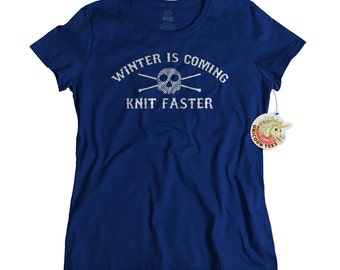 Gift for Women - Knitting Gifts - Knitters Tshirt - Knit Gifts for Mom or Daughter - Knitting Lovers T Shirt