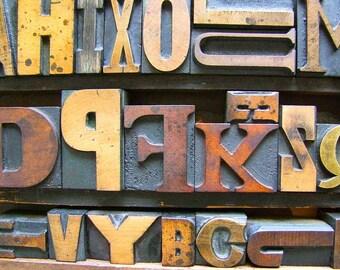 Vintage Letterpress Printers Blocks Medium (1.5 to 2.25 inches)