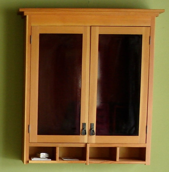 Items Similar To Craftsman Style Cabinet Purple Glass