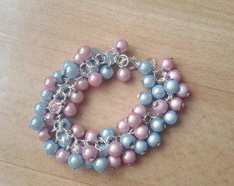 Very nice bracelet collection bunches of grapes, light blue and pink