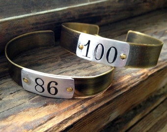 Salvaged number limited edition cuff - choose your number.