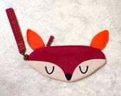 Wristlet - Doe-A-Deer Nara Wrist-Poche (BURGUNDY)