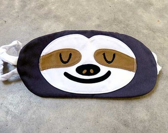 SLOTH Sleep Mask, Eye Mask, Sleeping Mask, Sleep Mask, DARK GRAY Sloth, Sloth Eye Mask, Sleeping Sloth, Beauty Sleep, Sloth Mask, Eyemask