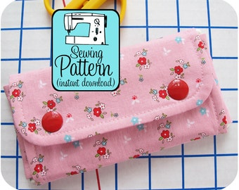 Pencil Pouch PDF Sewing Pattern | Small Tool Storage Pouch Sewing Pattern