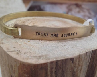 Trust the Journey // Hinged Brass Cuff