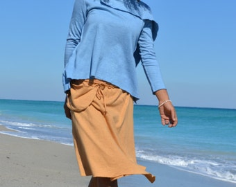 Hemp skirt custom made and hand dyed // organic clothing // eco-friendly // hemp clothing // wrap skirt