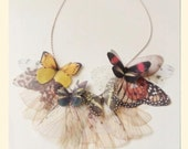 Fluttery Butterfly Necklace in FALL colors Made to Order
