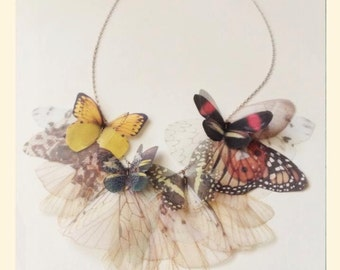 Fluttery Butterfly Necklace in FALL colors