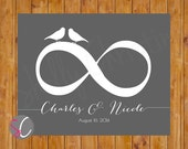 Infinity Symbol Love Birds Wall Art Wedding Valentines Day Gift Romantic Wall Decor 8x10Personalized Printable Digital JPG File (55)