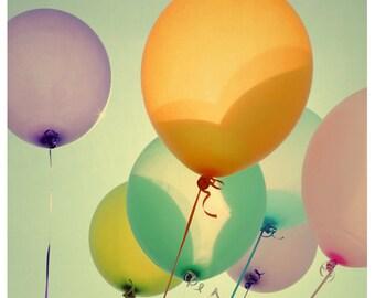 Balloon Photograph - Summer Photography - Fine Art Photography - Optimism - Children's Art - Kids Print - Housewarming Gift - Balloon Art