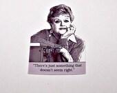 JESSICA FLETCHER Murder, She Wrote Mystery Quote Pin