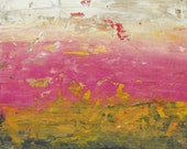 Pink Painting Giclee Fine Art Print on Paper - Abstract Painting - Apricot Haze - Minimalist landscape