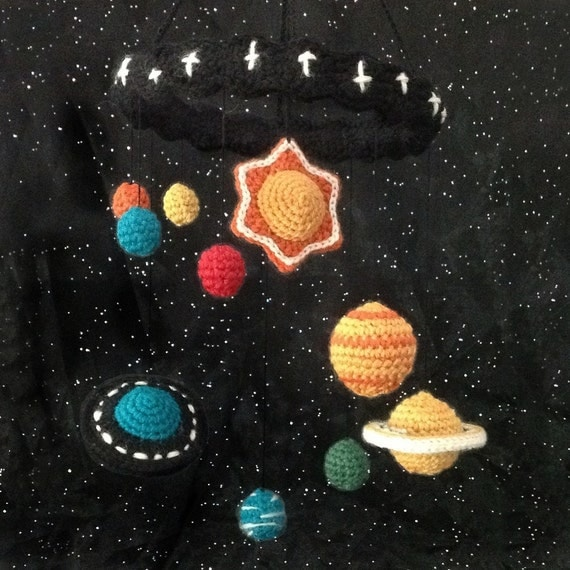 Crocheted Solar System Mobile Pattern PDF