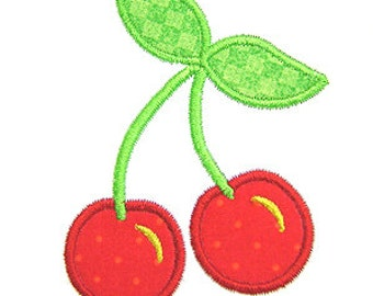 Cherry Applique, Cherries Applique, Cherries Embroidery, Machine Embroidery Design, Instant Download