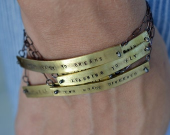Personalized Stamped Bracelet