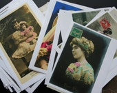 French Postcard - Collage Images - over 100 laser printed image - Collage sheet
