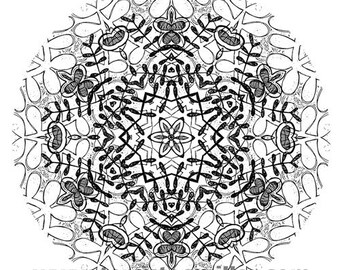 Thermofax Screen - Mandala 1
