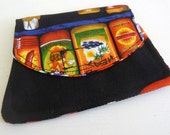 SALE Hot Sauce and Peppers Wallet, Velcro Closure