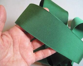wide green grosgrain ribbon (6 yards)