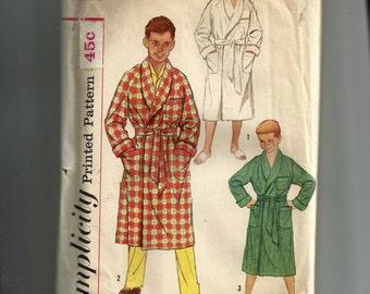 Simplicity Boy's Robe Pattern 2313