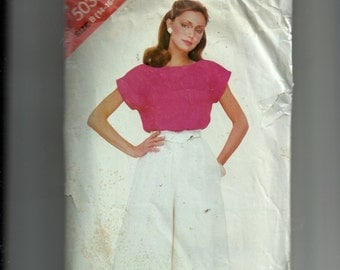 Butterick Misses' Top and Culottes Pattern 5038