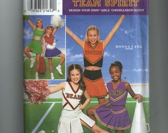 Simplicity Girl's Cheerleader Costumes Pattern 8294