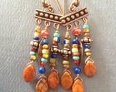 Autumn copper earrings
