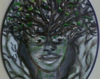 Face, Original Oil Painting, Surreal Painting, Oil Painting,