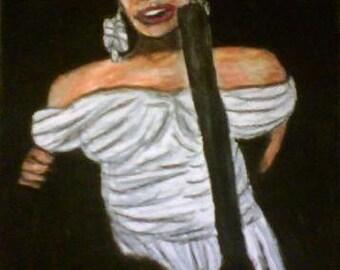"Sing, Oil Pastel, 9x12"", Fine Art, Oil Pastel Painting, Fine Art, Painting, Drawings, Figure Painting"